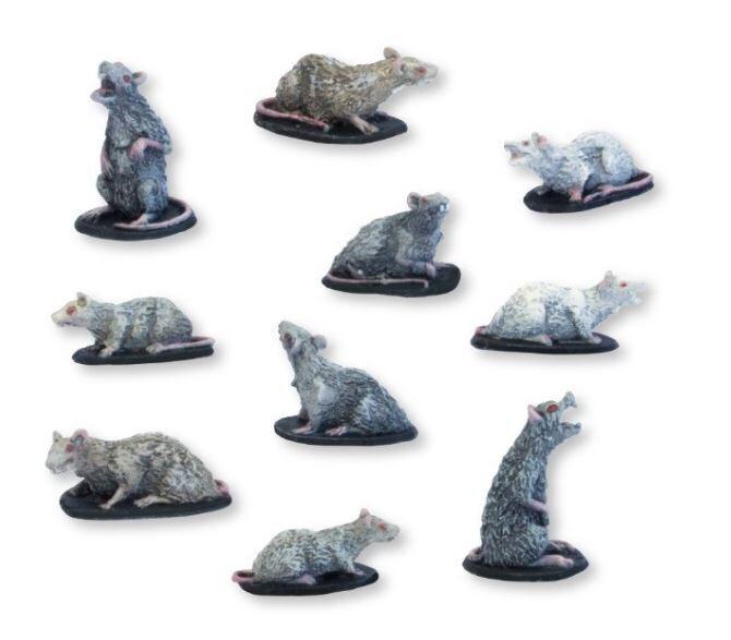 Rats - Set 1 (10) Models Miniatures Figures RPG Tabletop Roleplay Games