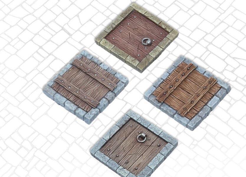 Trapdoors - Set 1 (4) Models Miniatures Figures RPG Tabletop Roleplay Games