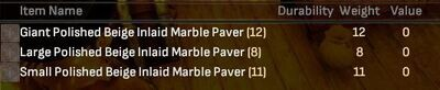 Polished Beige Inlaid Marble Paver Lot - Shroud of the Avatar