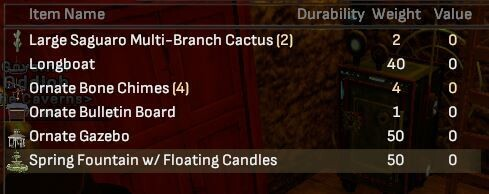 Assorted Outdoor Decoration Lot - Shroud of the Avatar