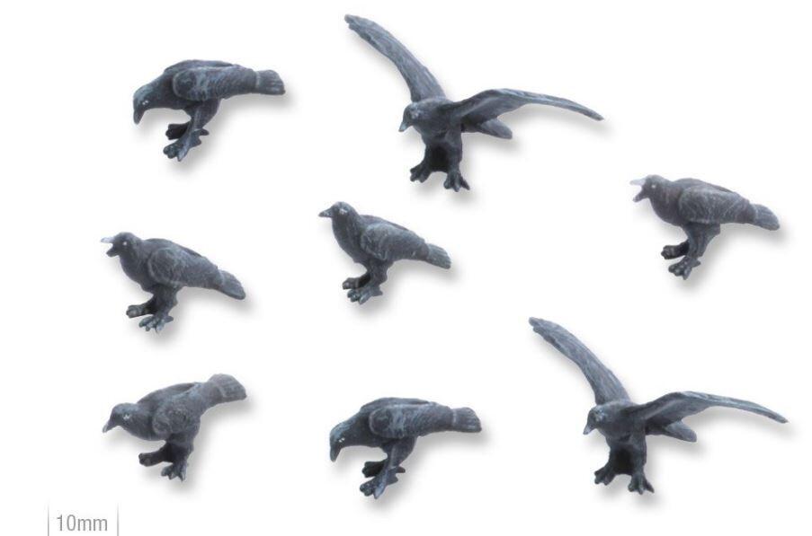 Ravens (8) Models Miniatures Figures RPG Tabletop Roleplay Games