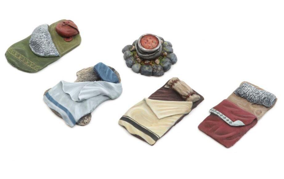 Adventurer Camp - Set 1 (5) Models Miniatures Figures RPG Tabletop Roleplay Games