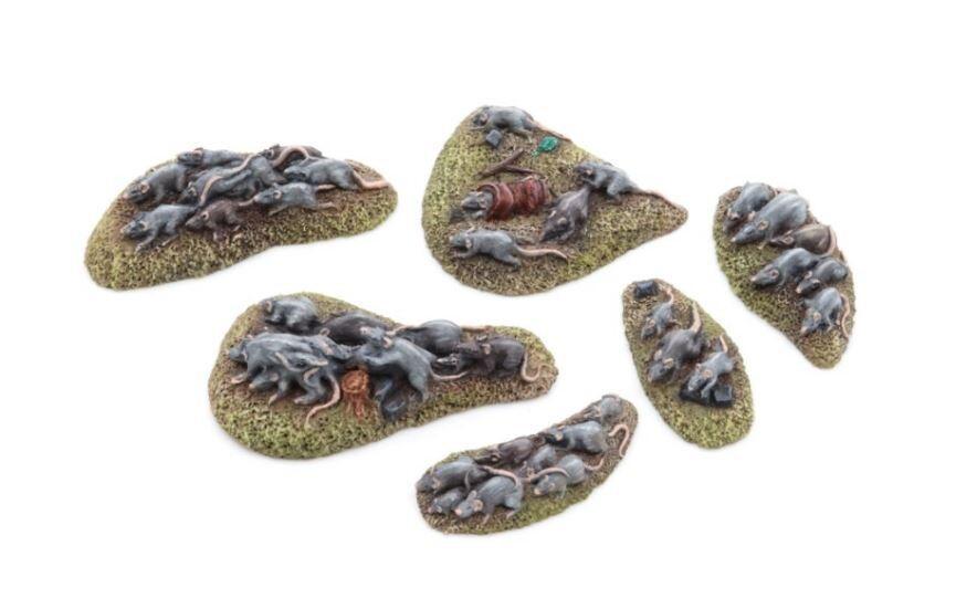 Rat Swarms - Set 1 (6) Models Miniatures Figures RPG Tabletop Roleplay Games