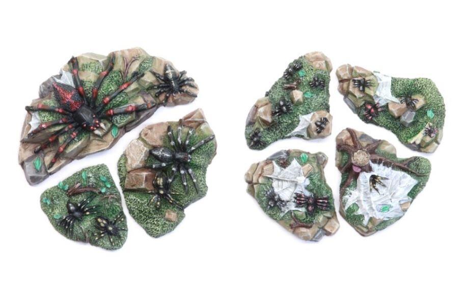 Spider Swarm (7) Models Miniatures Figures RPG Tabletop Roleplay Games
