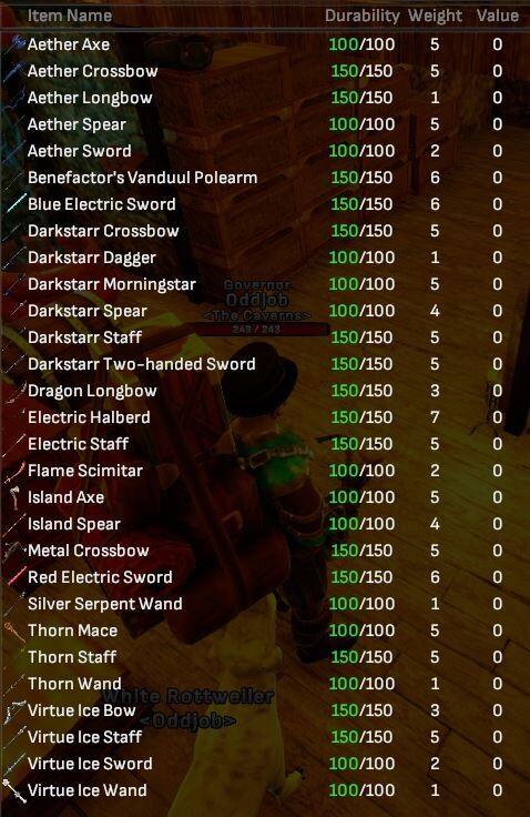 Reward Weapons Bulk Lot (29 Items) - Shroud of the Avatar