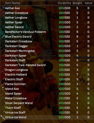 Reward Weapons Bulk Lot (24 Items) - Shroud of the Avatar