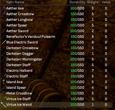 Reward Weapons Bulk Lot (18 Items) - Shroud of the Avatar