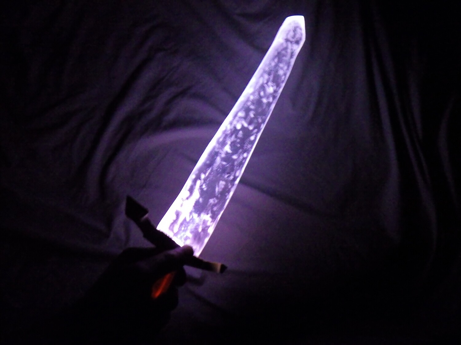 """Light-Up 21.5"""" x 2.5"""" x .5"""" Thick Crystal Glass Ice Replica Fantasy Theater Movie LARP Cosplay Prop RPG"""
