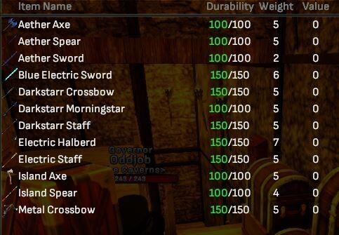 Reward Weapons Bulk Lot (12 Items) - Shroud of the Avatar