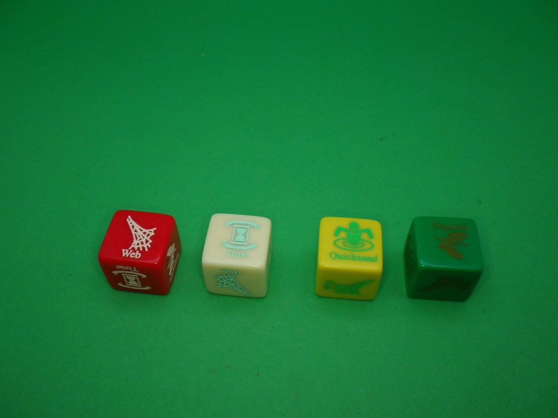Trap Die Version 1 Custom D6 Die 16mm Gaming Tabletop RPG Dice Roleplay CCG Board Cards Games Token Counter Marker Board Random