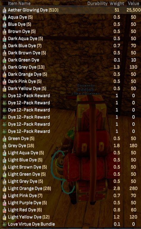 Dye Bundle - Shroud of the Avatar