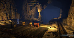 Five Connection Mine Cart Dungeon Foyer - Shroud of the Avatar