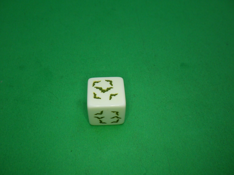 Bats Custom D6 Die 16mm Gaming Tabletop RPG Dice Roleplay CCG Board Cards Games Token Counter Marker Board Random