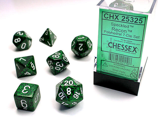 7 Die Dice Polyhedral Set - Chessex Speckled Recon RPG Tabletop Games Roleplay