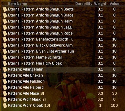 Pattern Bundle - Shroud of the Avatar