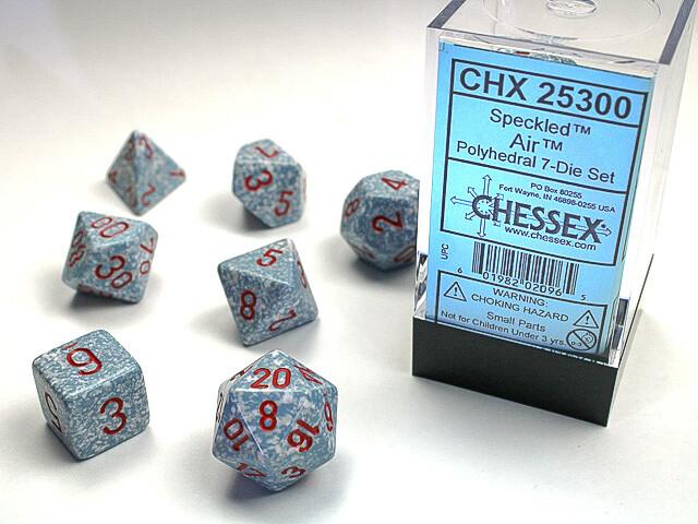 7 Die Dice Polyhedral Set - Chessex Speckled Air - RPG Tabletop Games