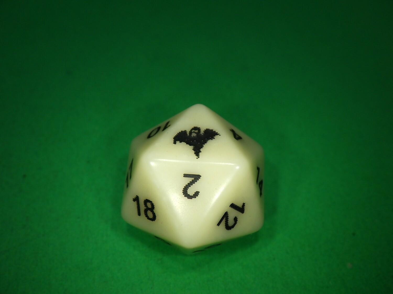 Ghost 1D20 Die Custom 16mm Gaming Tabletop Dice Roleplay NPC Random Roll Token Counter Marker RPG CCG