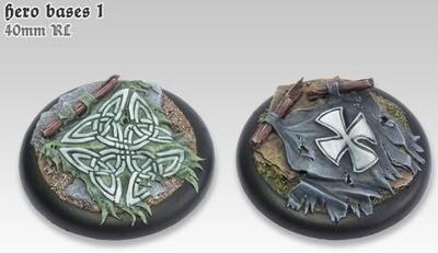 Hero Bases 1 - 40mm RL - Models Miniatures Figures RPG Tabletop Roleplay Games