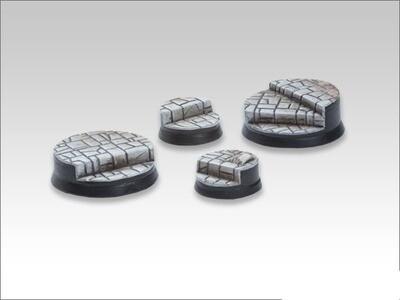 Stonefloor Bases - Round Stairbase Set (2-2) - Models Miniatures Figures RPG Tabletop Roleplay Games
