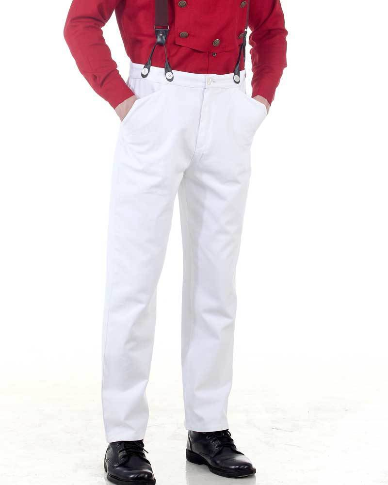Steampunk Classic Pants-White