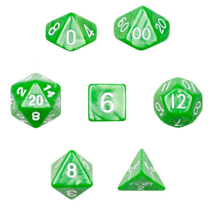16mm 7 Die Polyhedral Dice Set - Imperial Gem