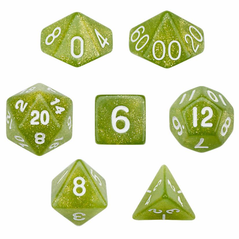 7 Die Polyhedral Dice Set - Serpent
