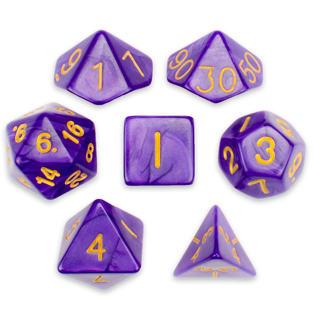 16MM 7 Die Polyhedral Dice Set Lucid Dreams