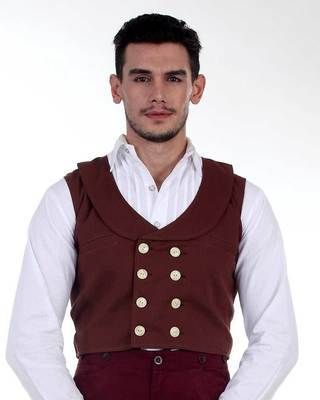 Double-Breasted Engineer Vest
