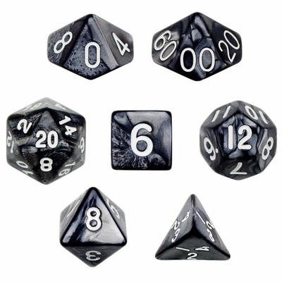 7 Die Polyhedral Dice Set - Smoke