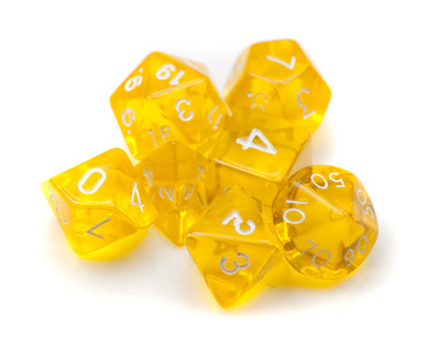 7 Die Polyhedral Dice Set Translucent Yellow
