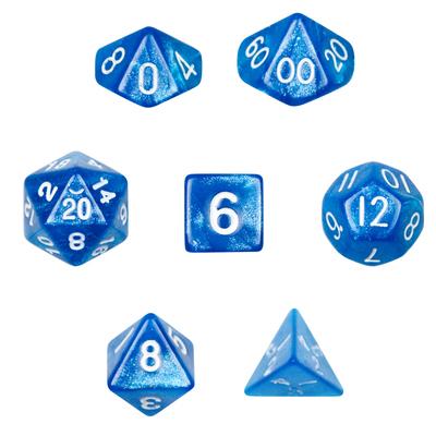 7 Die Polyhedral Dice Set- Horizon