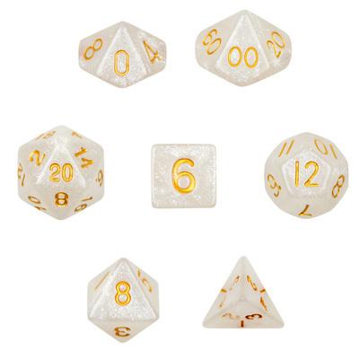 16mm 7 Dice Polyhedral Dice Set - Forbidden Treasure