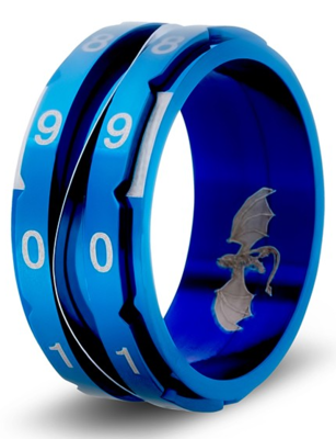 Clicking Counter Ring - Blue Size 8