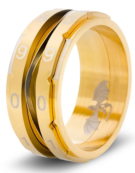 Clicking Counter Ring - Gold Size 10