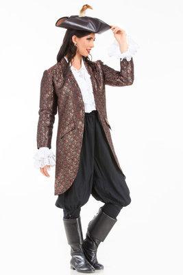 Angelica Brocade Privateer Coat