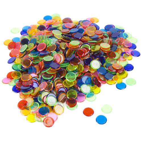 Colored Bingo Chips, Bag of 50, Your choice of Color
