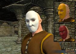 Plain Carnival Mask - Dyeable! - Shroud of the Avatar