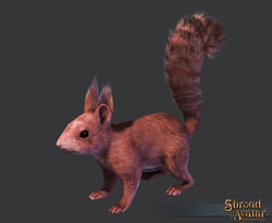 Red Squirrel Decoration Pet - Shroud of the Avatar