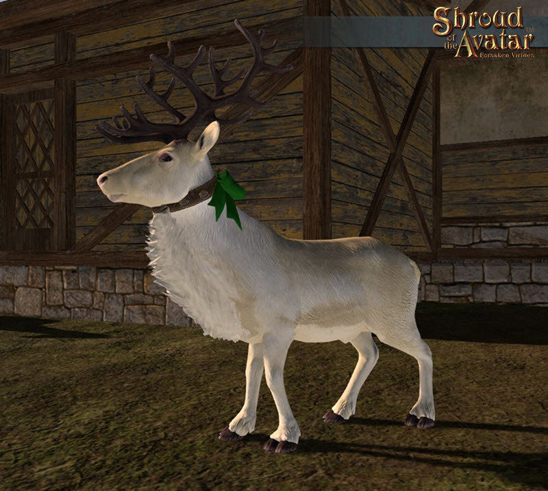 White Reindeer Decoration Pet