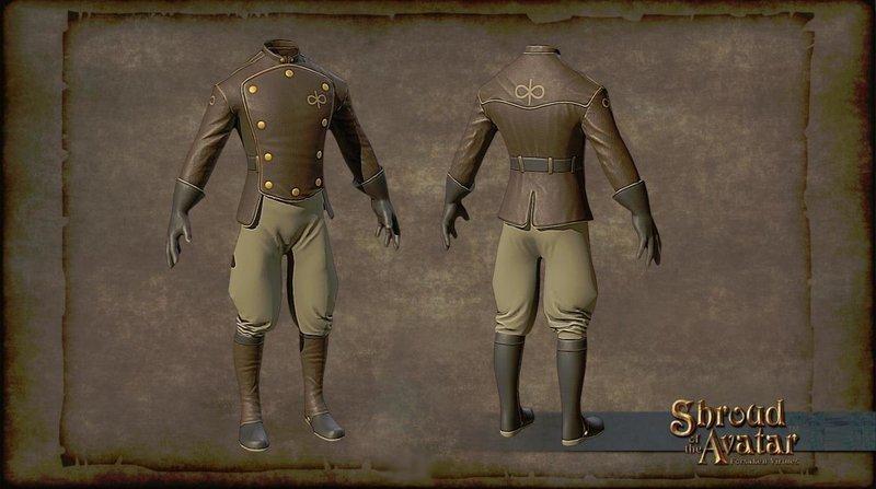 Virtue Aeronaut Set (boots, gloves, jacket, boots AND HELMET) - Shroud of the Avatar