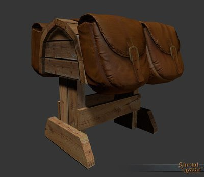Saddle and bag with Stand (Works as Container!) - Shroud of the Avatar