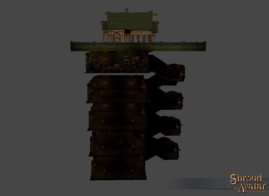 Village Stone 2-Story Basement - Shroud of the Avatar