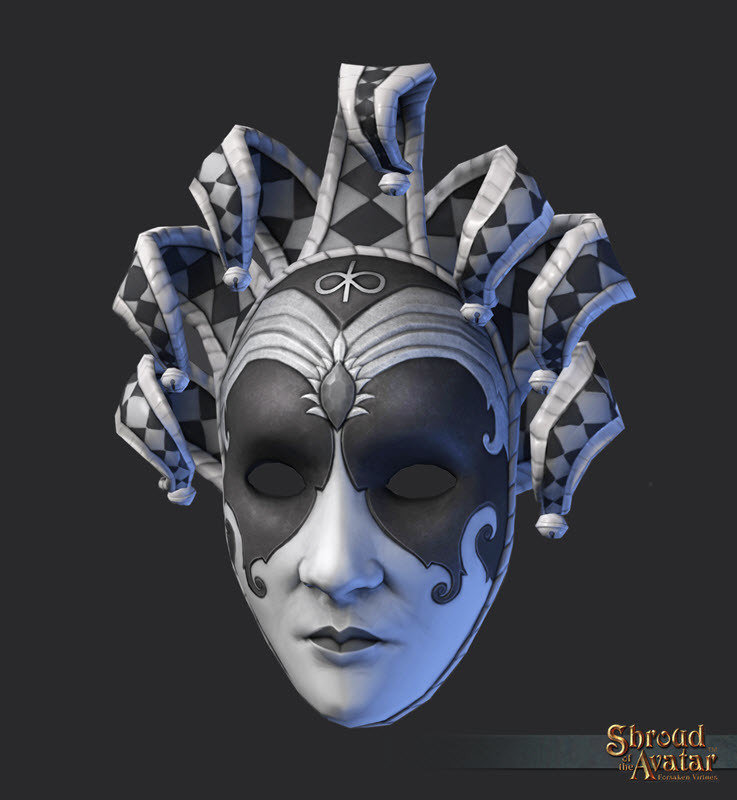 Virtue Silver Jester Carnival Mask - R15 Hat Quest - Shroud of the Avatar