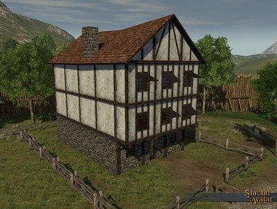 Wood & Plaster Three-Story (Village Home)