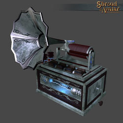 Ornate Metal Phonograph - Shroud of the Avatar