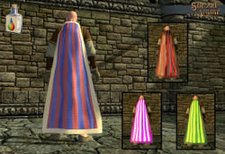 Striped Cloak (Dyeable!) - Shroud of the Avatar