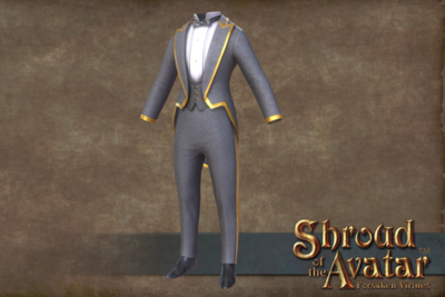 Golden Trimmed Tuxedo - Full Suit - From seed Investment - Shroud of the Avatar