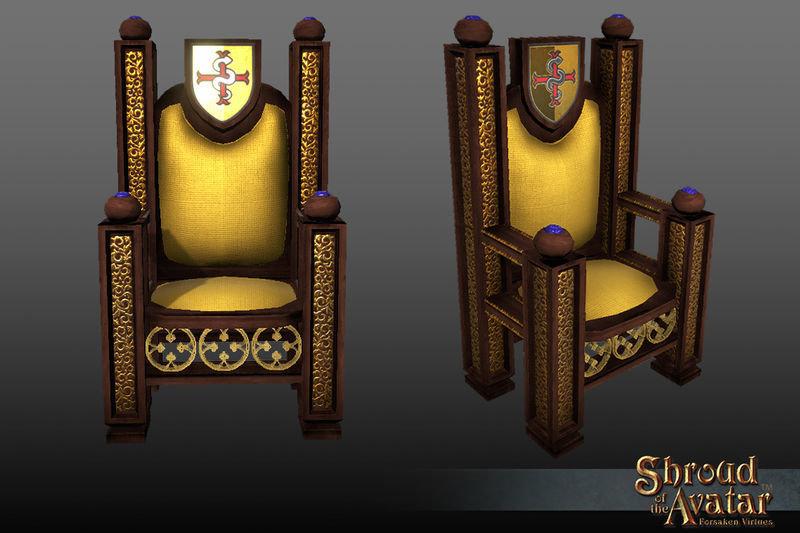 Golden Lord British Throne - Shroud of the Avatar