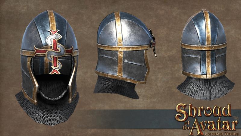 Lord British Plate Helmet  - Shroud of the Avatar