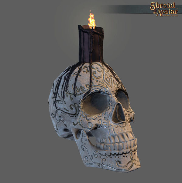 Ornate Skull Candle - Shroud of the Avatar